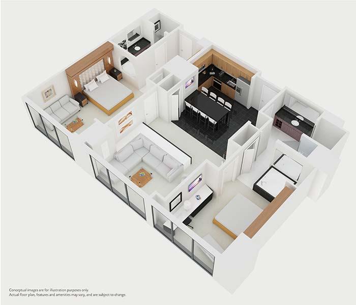 Las Vegas Two Bedroom Suites: Elara By Hilton Grand Vacations