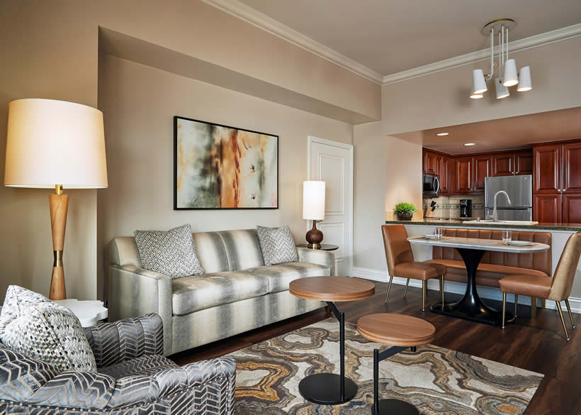 ... 1 Bedroom Suite Dining Living At Hilton Grand Vacations On The  Boulevard ...
